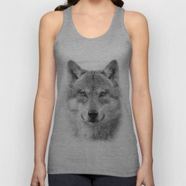 Wolf Portrait Unisex Tank Top