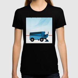 The blue Zamboni T-shirt