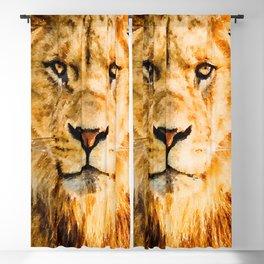 Lion watercolor painting #1 Blackout Curtain