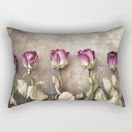Five dried roses Rectangular Pillow