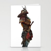 samurai Stationery Cards featuring Samurai by Alba Palacio