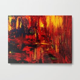 """""""Summer on the Delta"""" Abstract Acrylic by Noora Elkoussy Metal Print"""