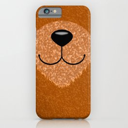 Teddy Bear Nose and Mouth iPhone Case