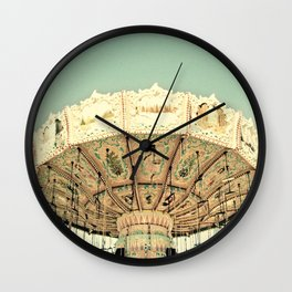 Fair Ride in Aqua Wall Clock