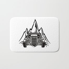 Hotrod with Bergen Custom Car Ami Car Car Bath Mat