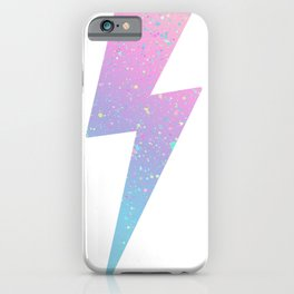 color splash lightning bolt iPhone Case