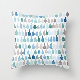 #82. DAN - Rain Drops Throw Pillow
