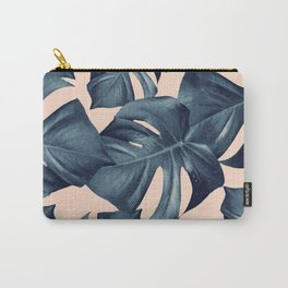 Monstera Leaves Pattern #6 #tropical #decor #art #society6 Carry-All Pouch