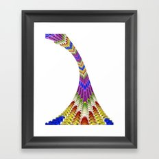 Rainbow Twist Framed Art Print