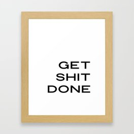Get Shit Done Print, Laundry Room Decor, Quote Prints, Inspirational Prints, Printable Quotes, Typog Framed Art Print