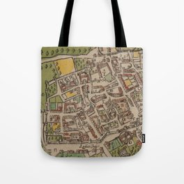 Vintge Map of Oxford England (1605) Tote Bag