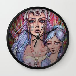 Women Who Run with the Wolves Wall Clock
