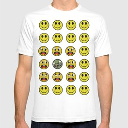 Attack of the Zombie smiley! T-shirt