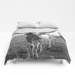 Longhorn Cows Comforters