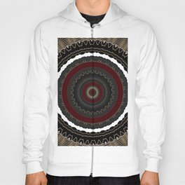 Rich Red and Gold Flower Mandala Hoody