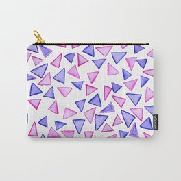 Pink purple watercolor hand painted triangles Carry-All Pouch