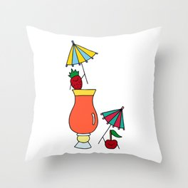 Fruity Cocktail Party  Throw Pillow