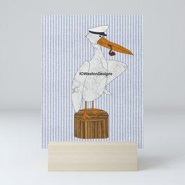 Sailor Pelican Print Mini Art Print