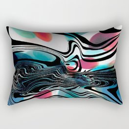 Wild Primary Color Wave Abstract Rectangular Pillow