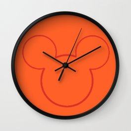 Orange Mouse Wall Clock