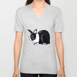 Dutch Rabbit Unisex V-Neck