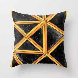 geo galaxy Throw Pillow