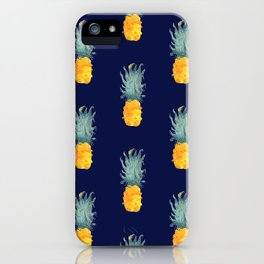 Pineapple Pattern Blue iPhone Case