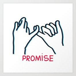 Promised hand emoji Art Print