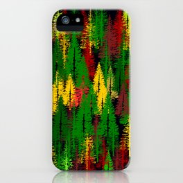 autumn fir forest iPhone Case