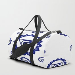"BLUE SANSKRIT CHAKRAS PSYCHIC WHEEL "" SPEAK"" Duffle Bag"