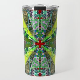 number 238 green on green with red pattern Travel Mug