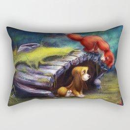 Fox and Hound Rectangular Pillow