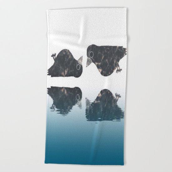 crow-182 Beach Towel