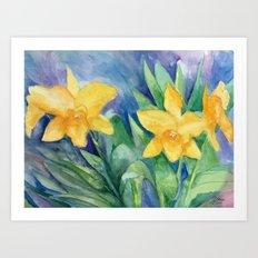Orchid Sunshine Art Print