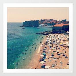 Dubrovnik Beach Art Print