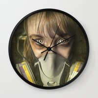 apocalypse now Wall Clocks featuring Apocalypse by Bruce Stanfield Photographer
