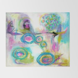 Driven To Distraction, Abstract Landscape Art Throw Blanket