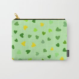 Love, Romance, Hearts - Yellow Green Carry-All Pouch