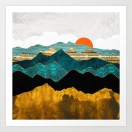 Turquoise Vista Art Print