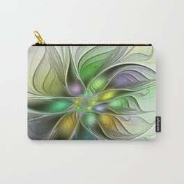 Colors Make My Day, Abstract Fractal Art Carry-All Pouch