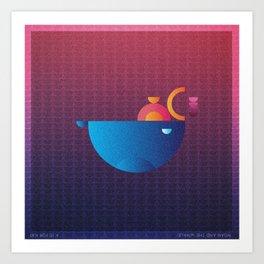 Music in Monogeometry : Noah and the Whale Art Print
