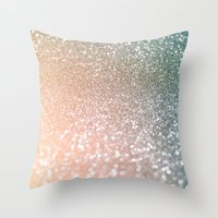 bisexual Throw Pillows featuring Rose quartz glitter  by Better HOME