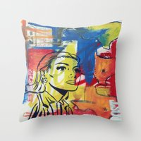 texas Throw Pillows featuring Texas by Asher Feehan
