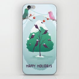 Happy Holidays - A Parrots Christmas  iPhone Skin