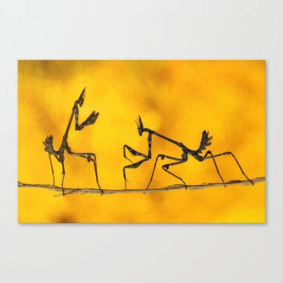 Praying Mantis vs Praying Mantis Canvas Print