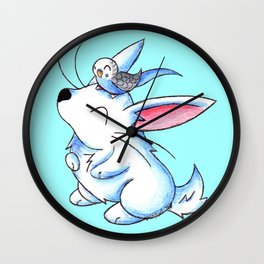 Budgie Buddy Wall Clock