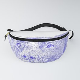 Mitzi takes it easy, blue Fanny Pack