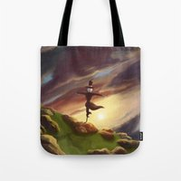 studio ghibli Tote Bags featuring Studio Ghibli - Howl's Moving Castle by BBANDITT