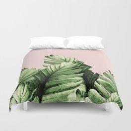 Blush Banana Leaves Dream #1 #tropical #decor #art #society6 Duvet Cover