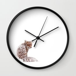 A Fox Fantasy (Red Fox in the snow)  Wall Clock